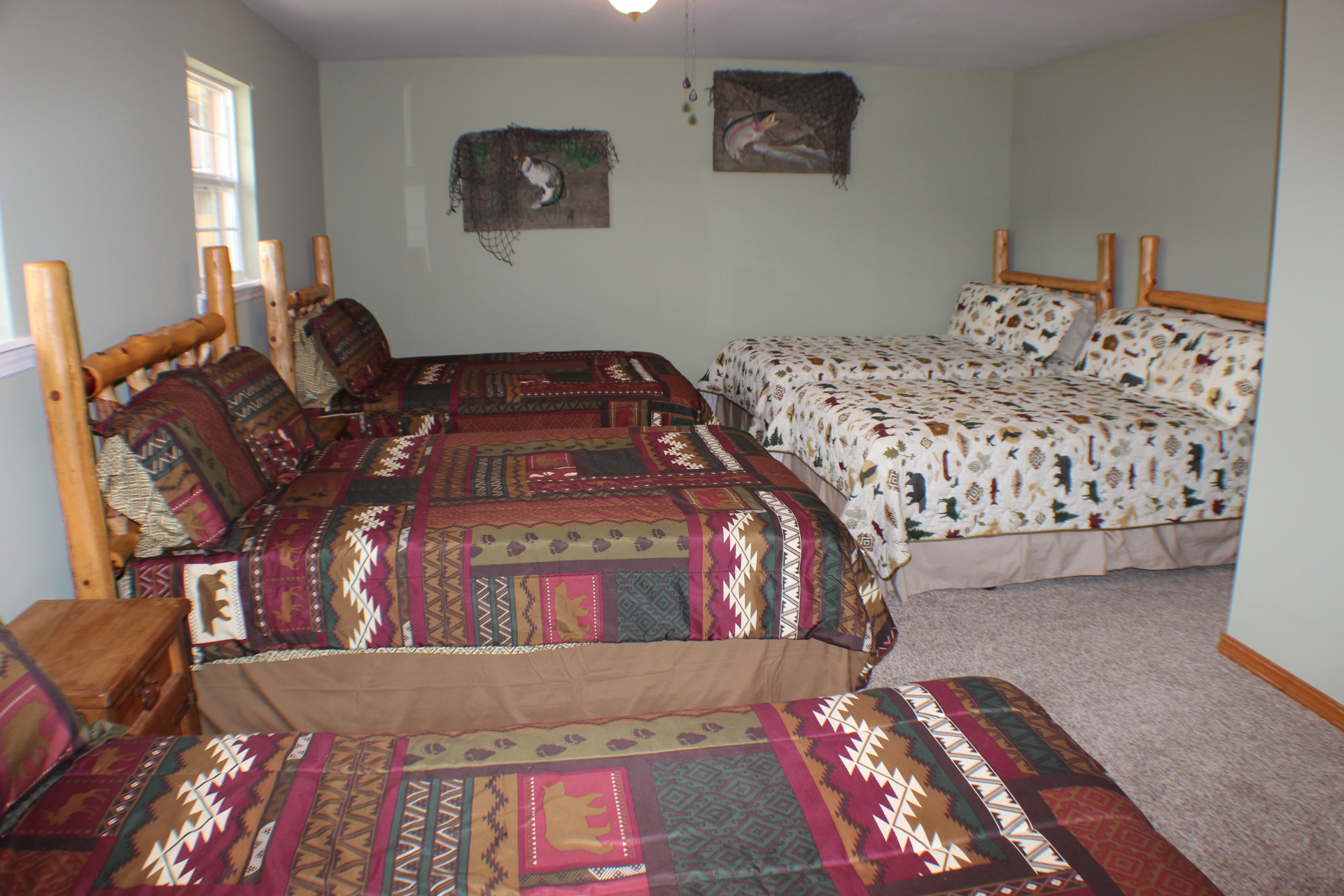king beds springville in hobby pin a made bed guy by rustic log as